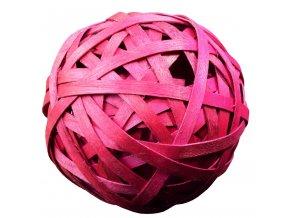 Vánoční dekorace koule růžová - 2 ks