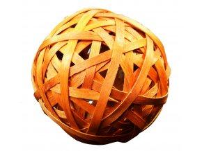 Vánoční dekorace koule oranžová - 2 ks
