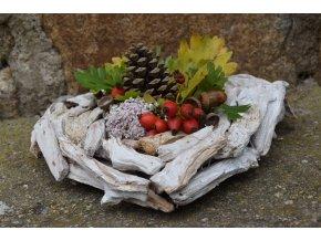 Srdce z kůry pro podzimní tvoření