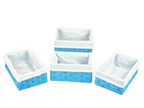 Sada 4 úložných boxů modrých
