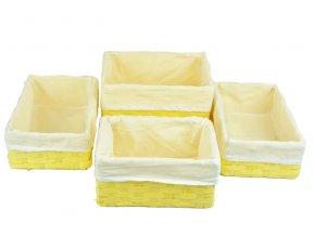 Sada 4 úložných boxů žlutých