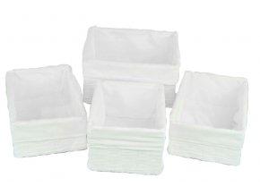 Sada 4 úložných boxů bílých