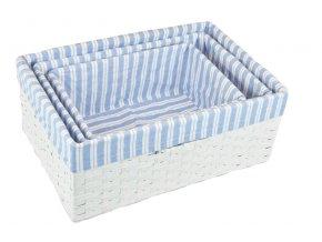 Úložný box bílý II (rozměry (cm) 30x20, v. 12)