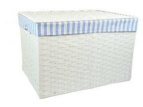 Úložný box s víkem bílý (rozměry (cm) 32x21, v. 24)
