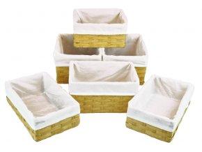 Sada 6 úložných boxů pískových