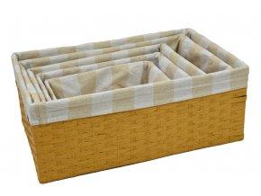 Úložný box pískový (rozměry (cm) 30x20, v. 12)