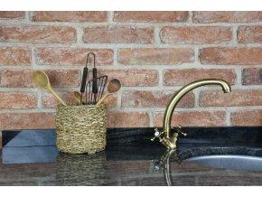 Sada 3 košíků Vingo z mořské trávy - tip na umístění košíku v interiéru