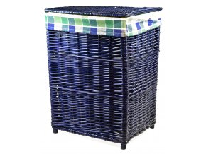 Proutěný koš na prádlo modrý