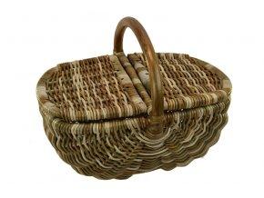 Ratanový koš na piknik v hnědých odstínech