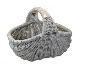 Ratanový nákupní koš šedý