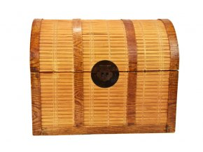 17496 sada 2 truhel vykladanych bambusem