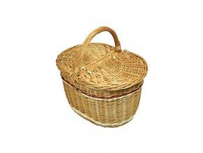 Proutěný piknikový koš zdobený (Nevybavený)