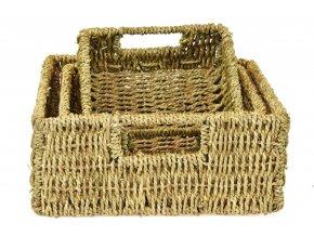 Úložný box z trávy zelený (rozměry (cm) 10x21, v. 19)