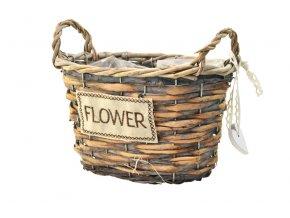 18293 1 sada 3 hnedych proutenych kosicku flower oval