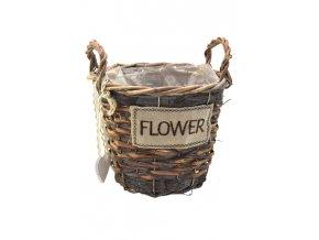 18323 sada 3 hnedych proutenych kosicku flower kulate