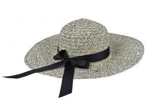 Dámský klobouk melírovaný tmavě modrý