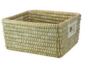 Úložný box z mořské trávy s průhmaty