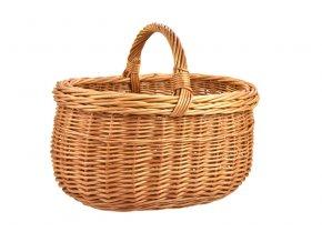 Proutěný nákupní košík oválný