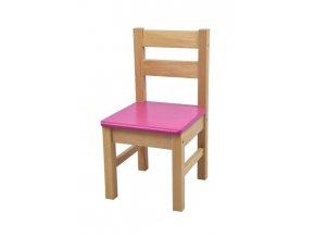 Dětská židlička – růžová