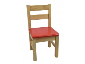 Dětská židlička – červená