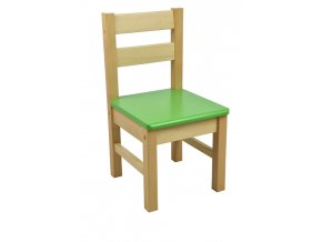 Dětská židlička – zelená