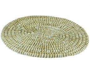 Prostírání Vingo bílé oválné pleteno z mořské trávy