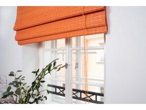Bambusová římská roleta oranžová (Velikost 50x150)