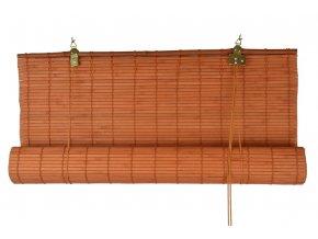 Zastiňovací bambusová roleta Vingo oranžová