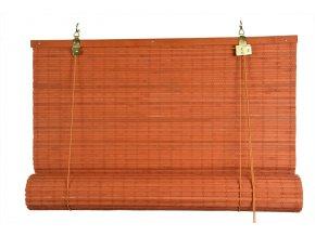 Zatemňovácí bambusová roleta oranžová (Velikost 50x150)
