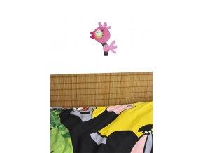 Bambusová rohož za postel hnědá