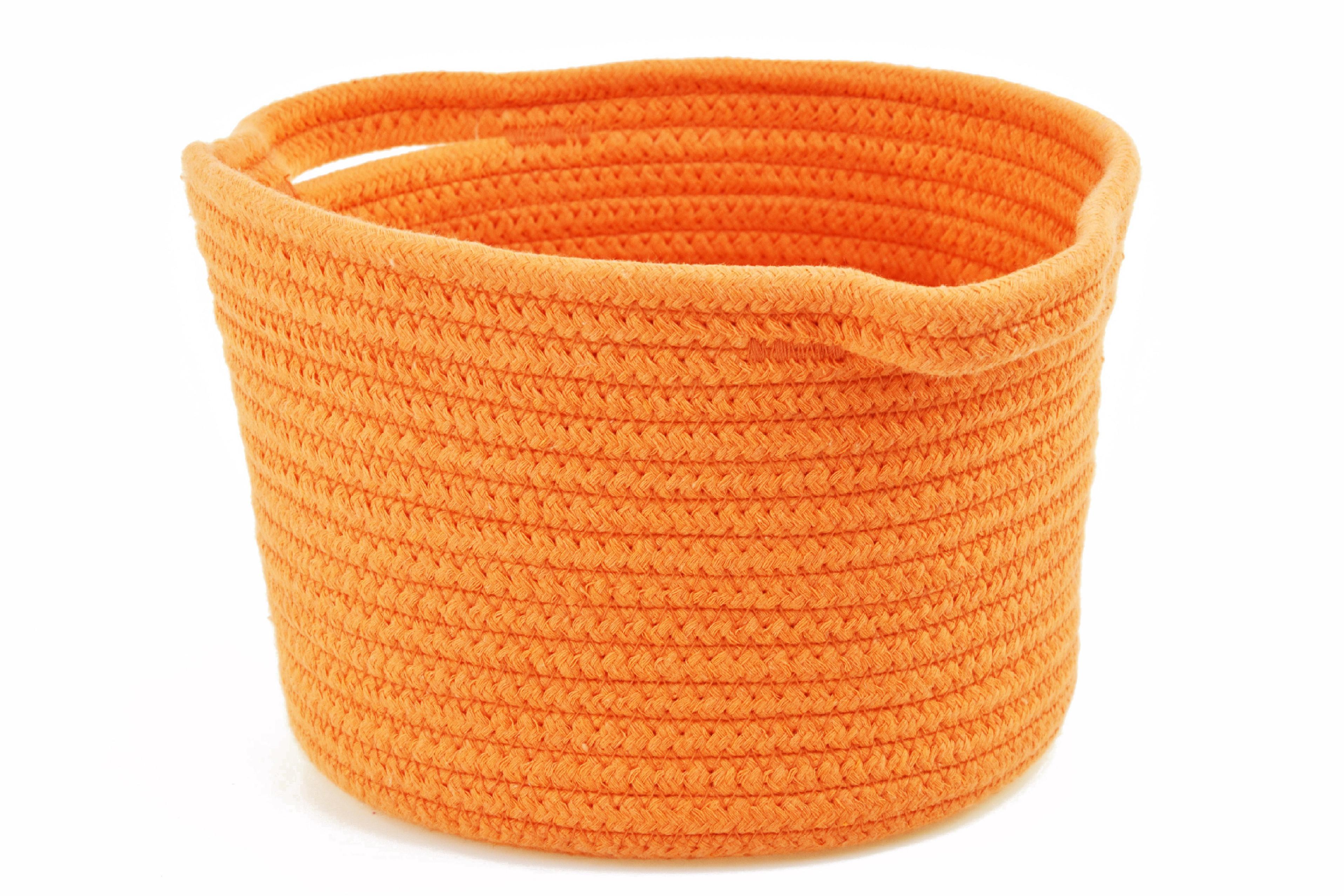 Oranžový jutový košík