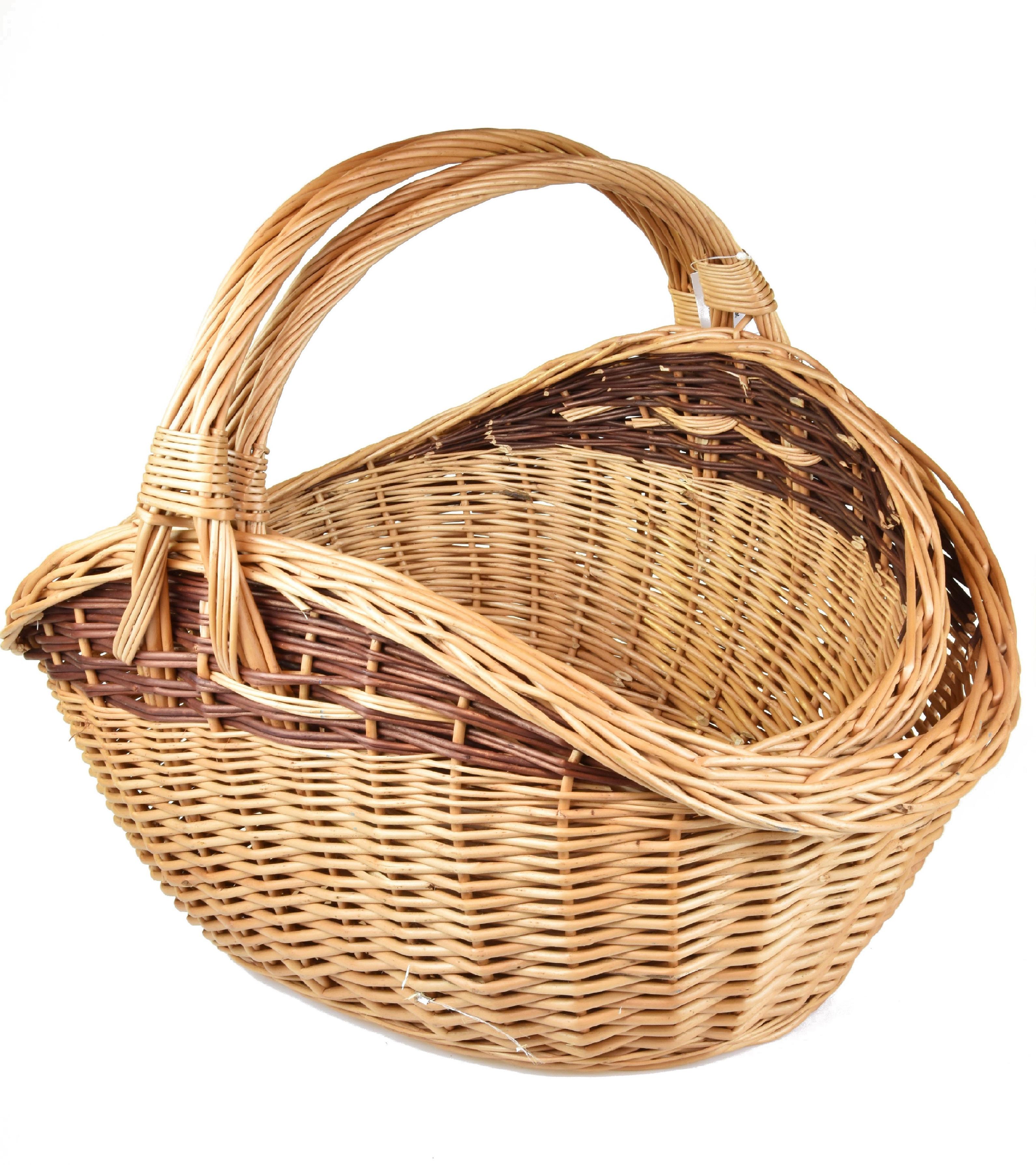 Proutěný koš na dřevo tvaru vejce Rozměry (cm): 59X46, v. 46 cm