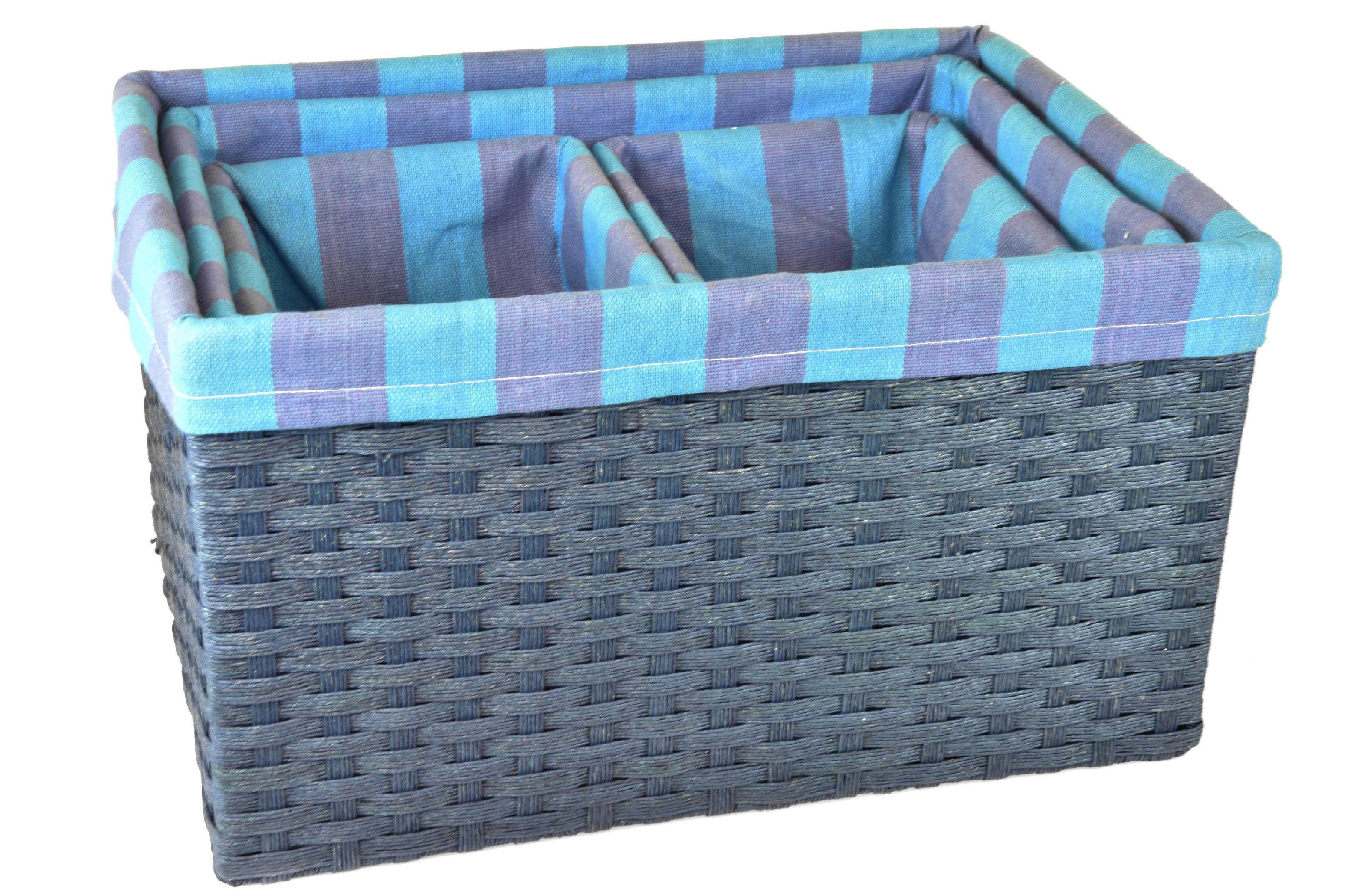 Úložný box modrý rozměry boxu (cm): Sada 30x44x25 26x40x23 18x22x20 18x22x20