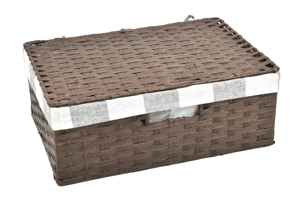 Úložný box s víkem hnědý Rozměry (cm): 53x33, v. 19