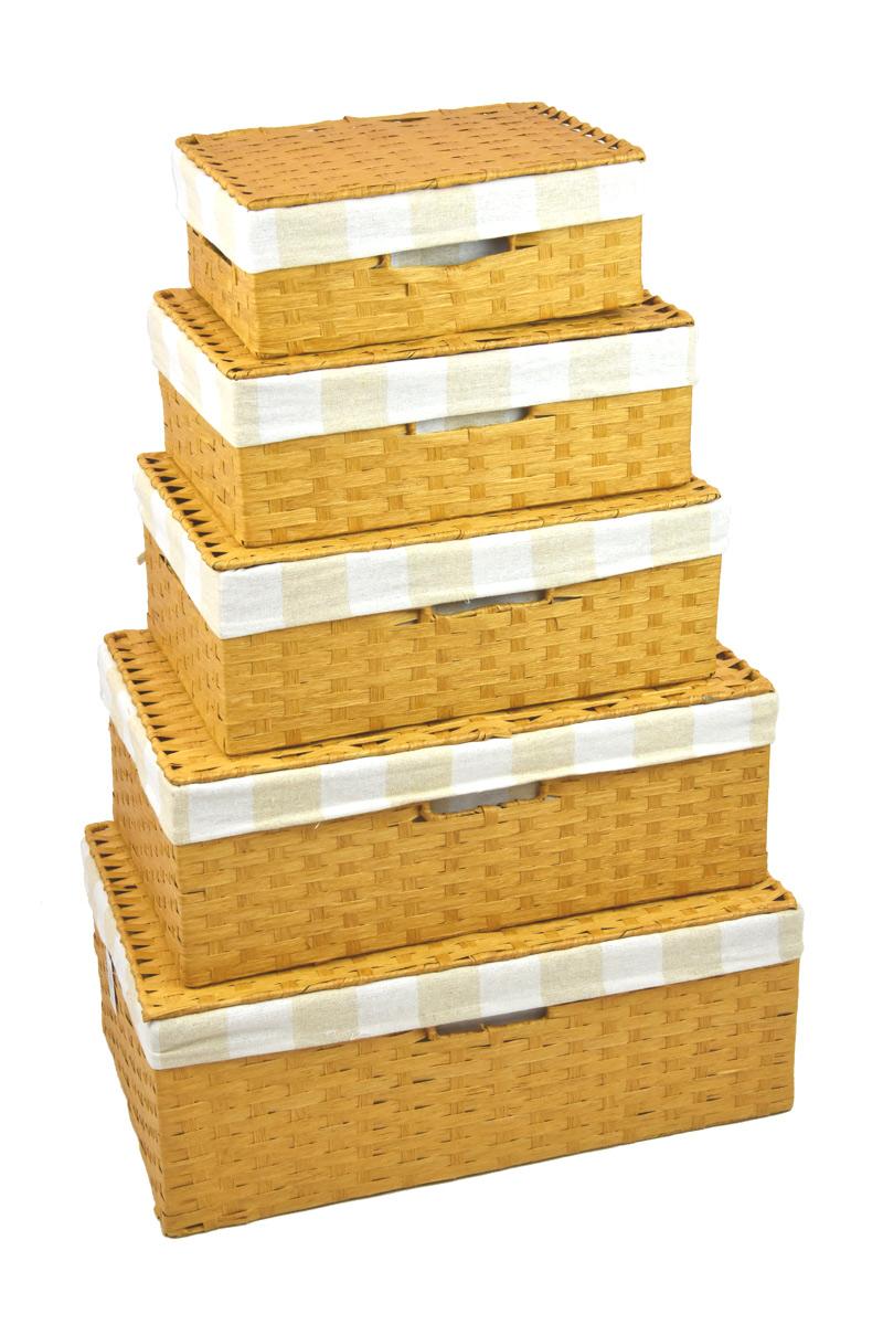 Úložný box s víkem pískový rozměry boxu (cm): Sada 30x21x11|36x24x13|40x27x15