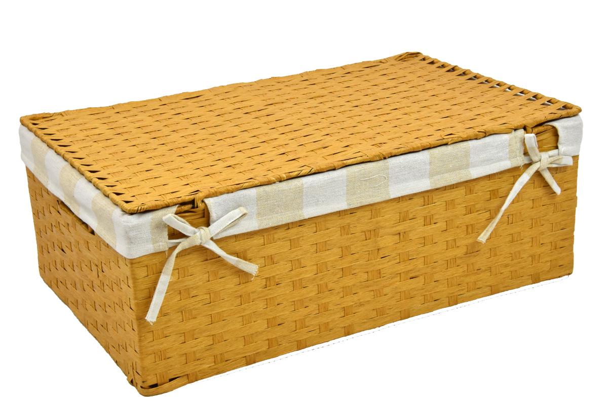 Úložný box s víkem pískový Rozměry (cm): 40x27, v. 15
