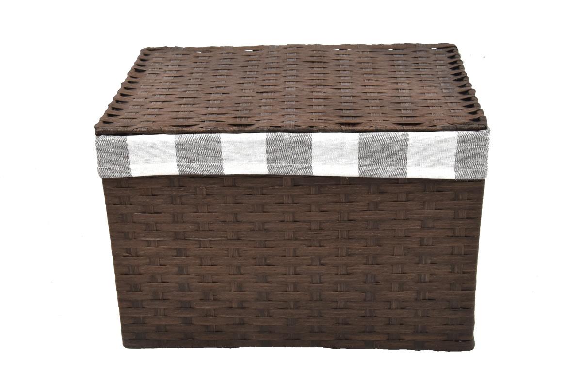 Úložný box s víkem hnědy rozměry boxu (cm): 40x29, v. 28