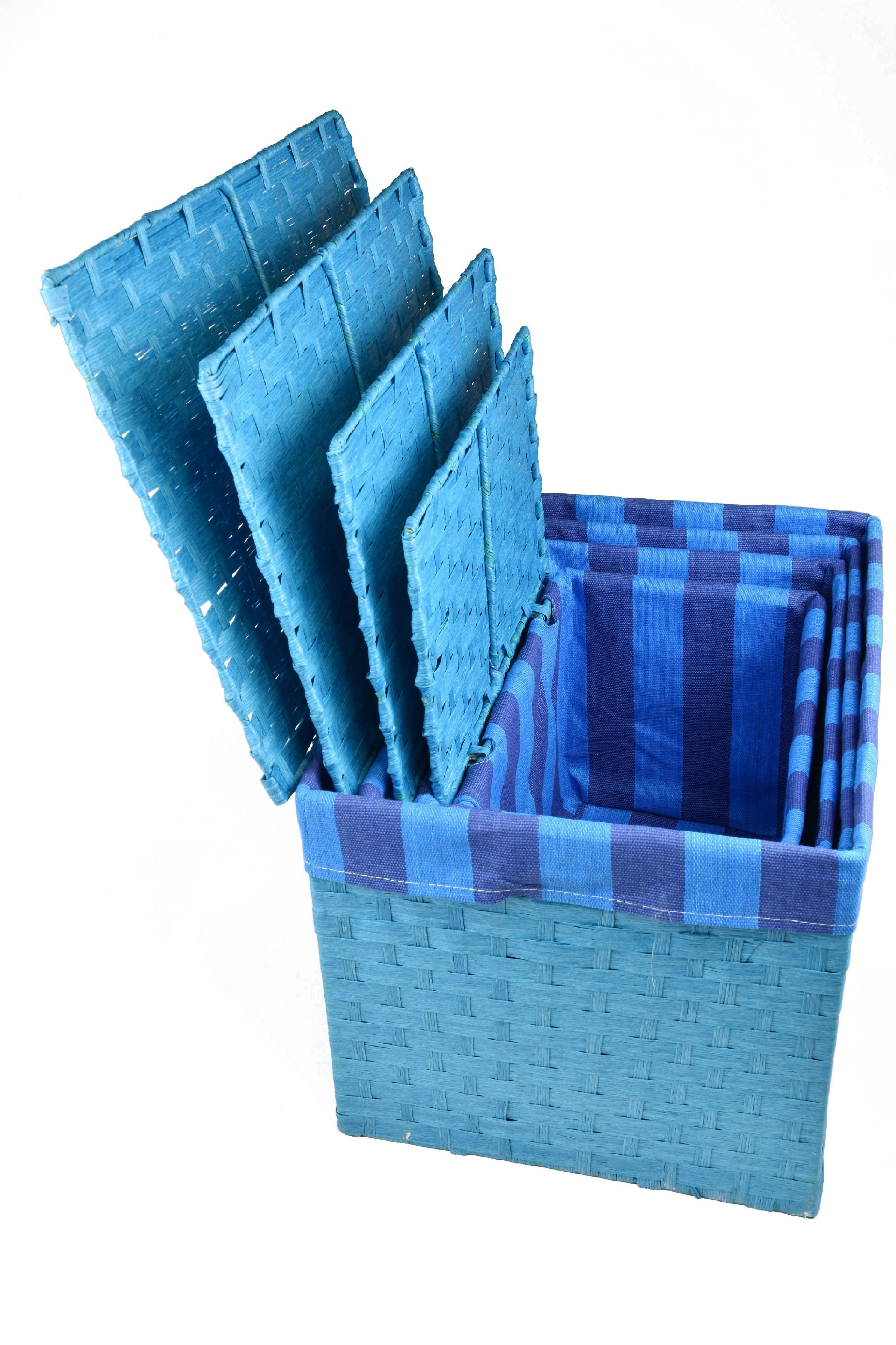 Úložný box s víkem modrý rozměry boxu (cm): 40x29, v. 28