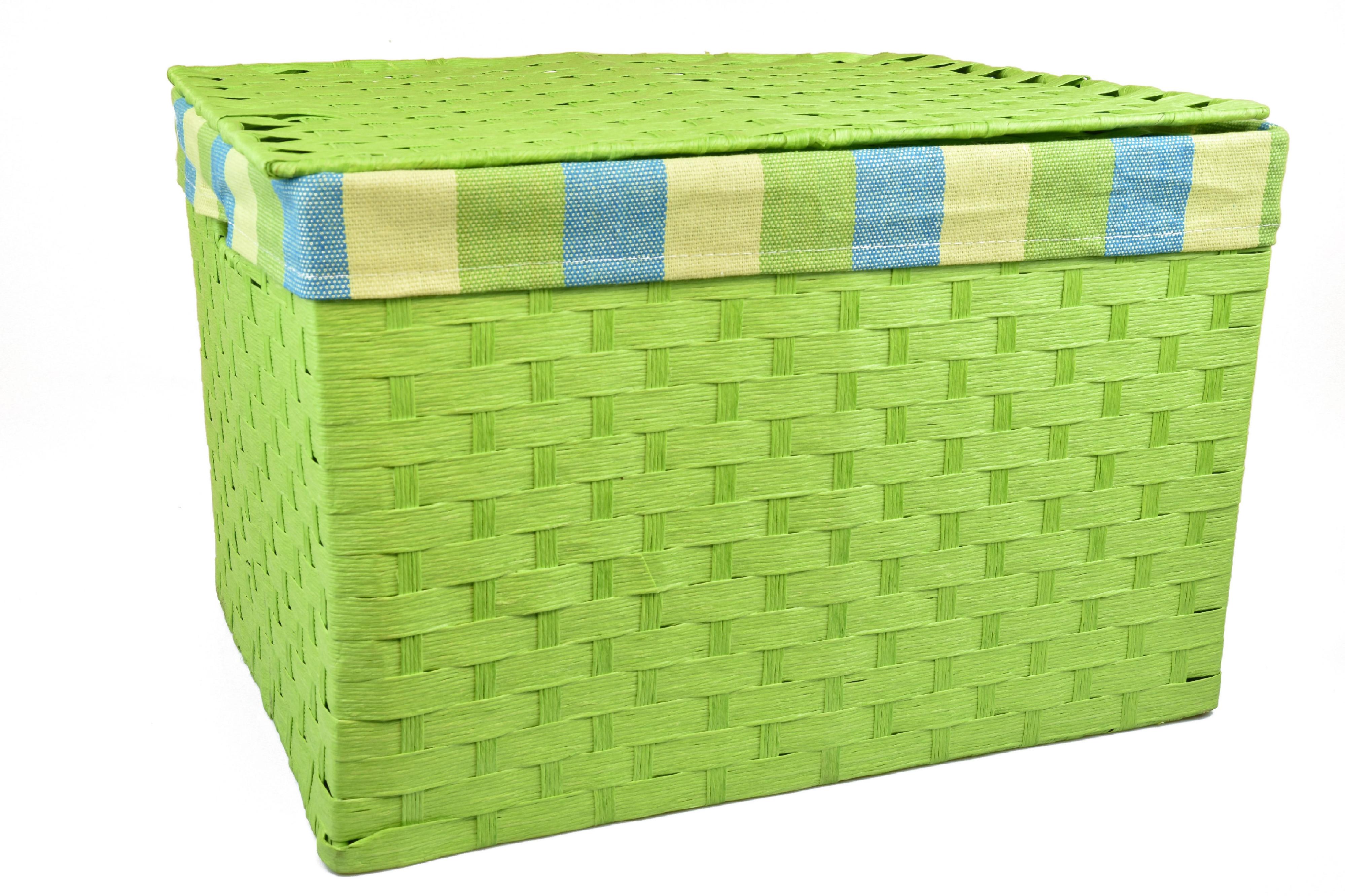 Úložný box s víkem zelený rozměry boxu (cm): 40x29, v. 28