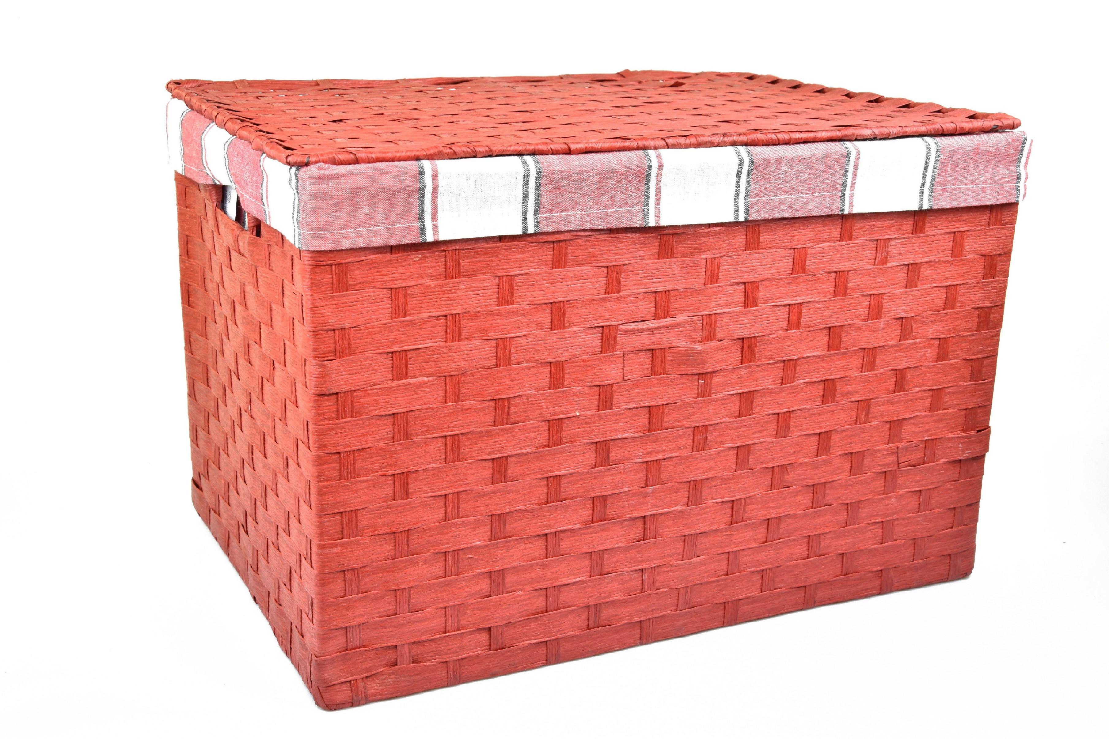 Úložný box s víkem červený rozměry boxu (cm): 40x29, v. 28