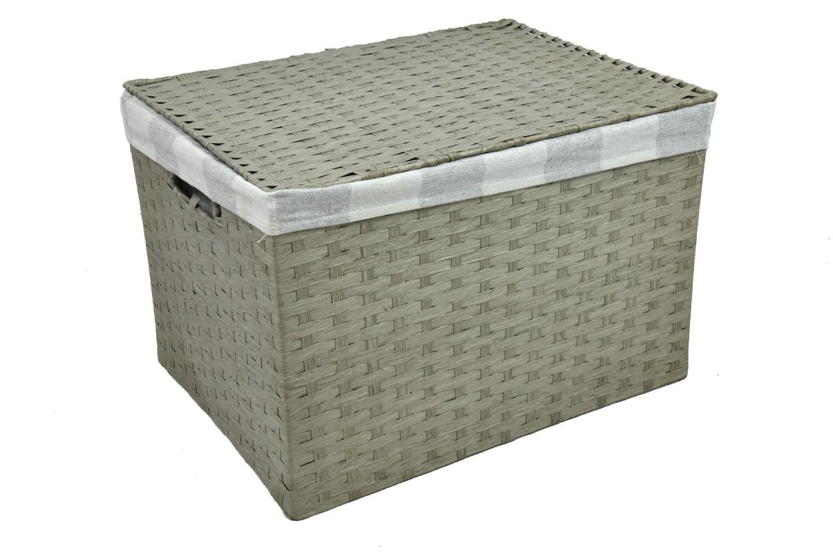 Úložný box s víkem šedý rozměry boxu (cm): 40x29, v. 28