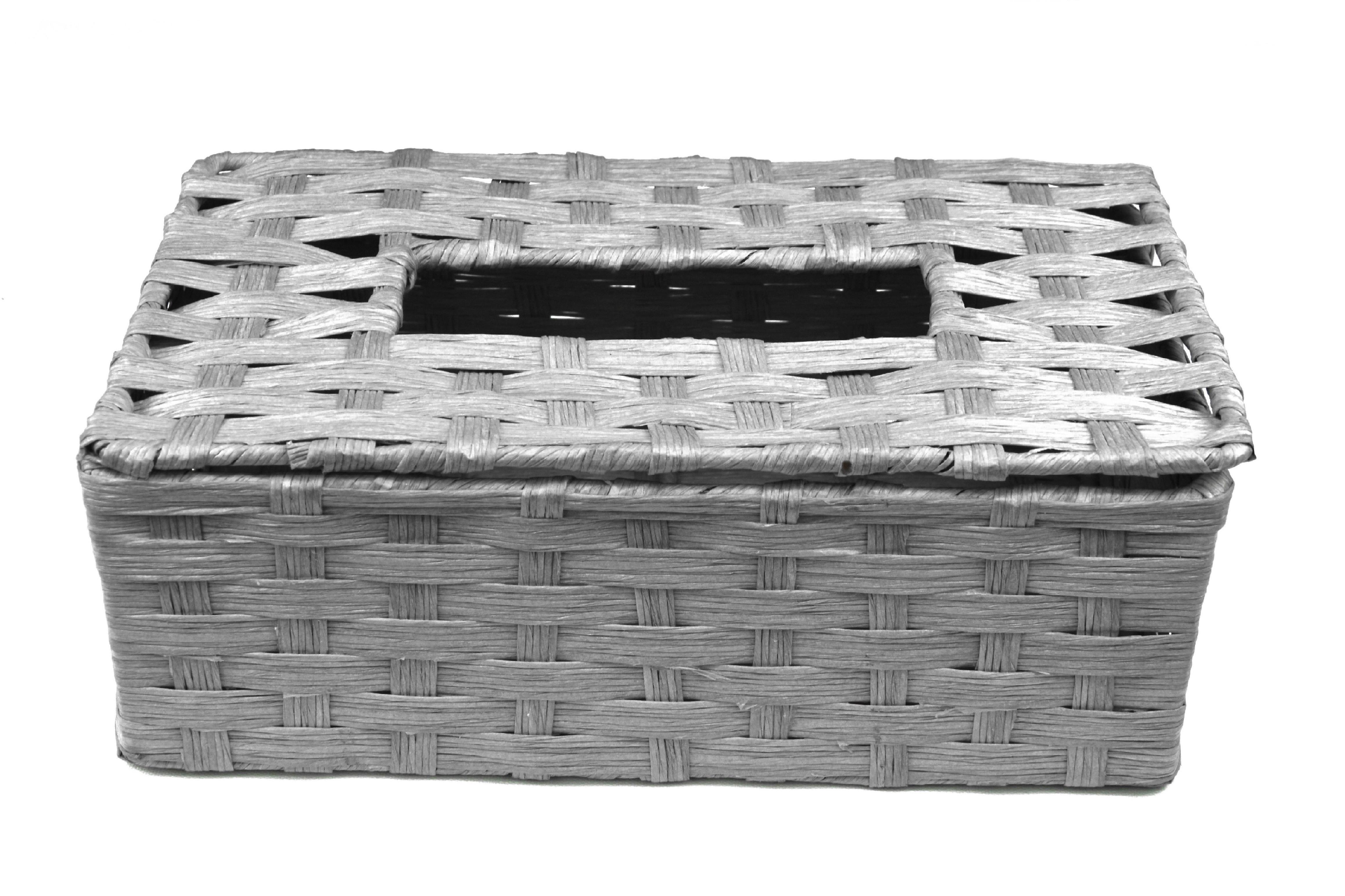 Box na kapesníky šedý