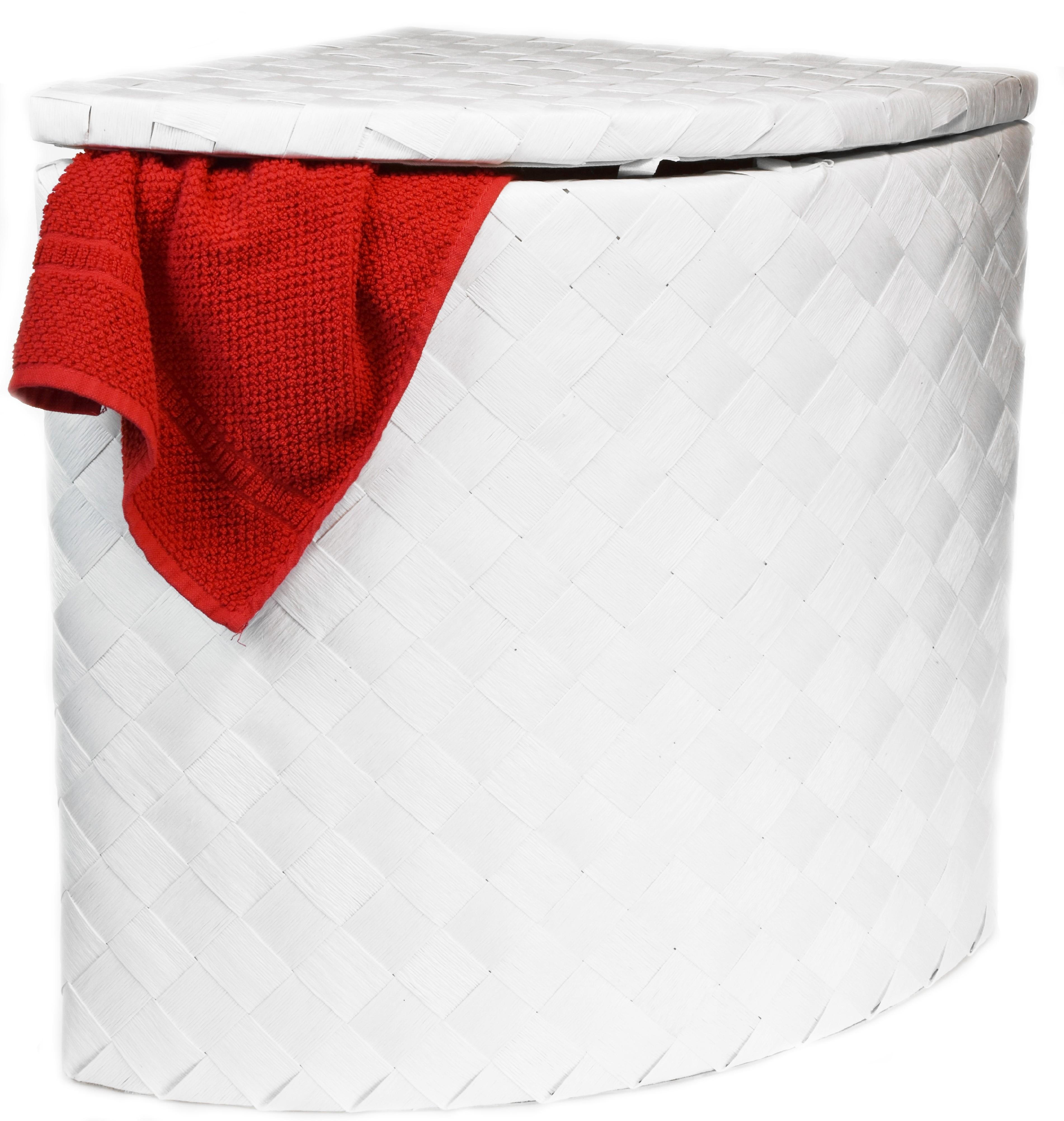 Koš na prádlo rohový bílý Rozměry (cm): sada 60x49x49|53x40x40