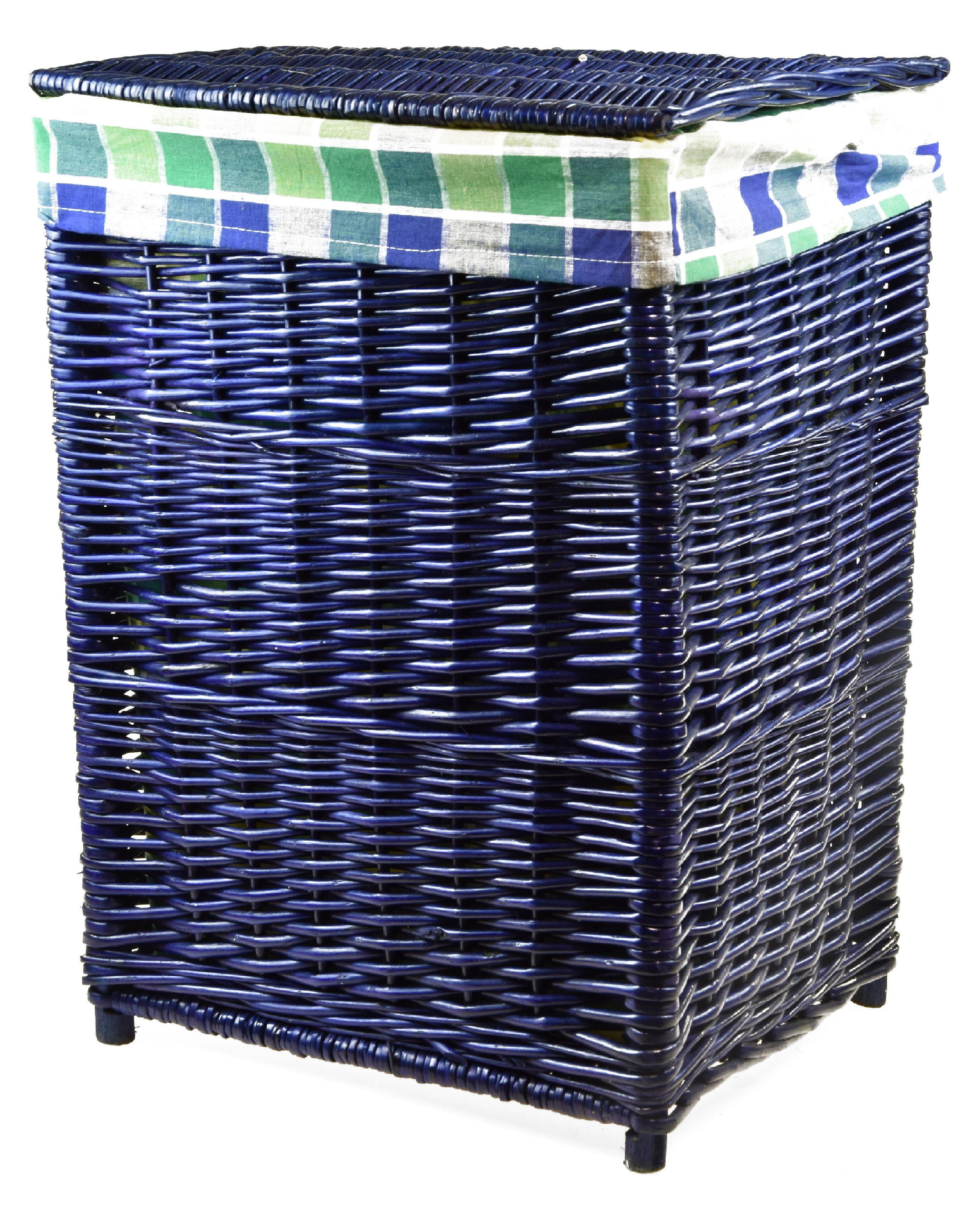 Proutěný koš na prádlo modrý Rozměry (cm): sada 52x39x28|59x44x40