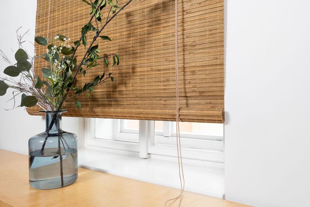 Zatemňovácí bambusová roleta světle hnědá - ořech Velikost: 100x150