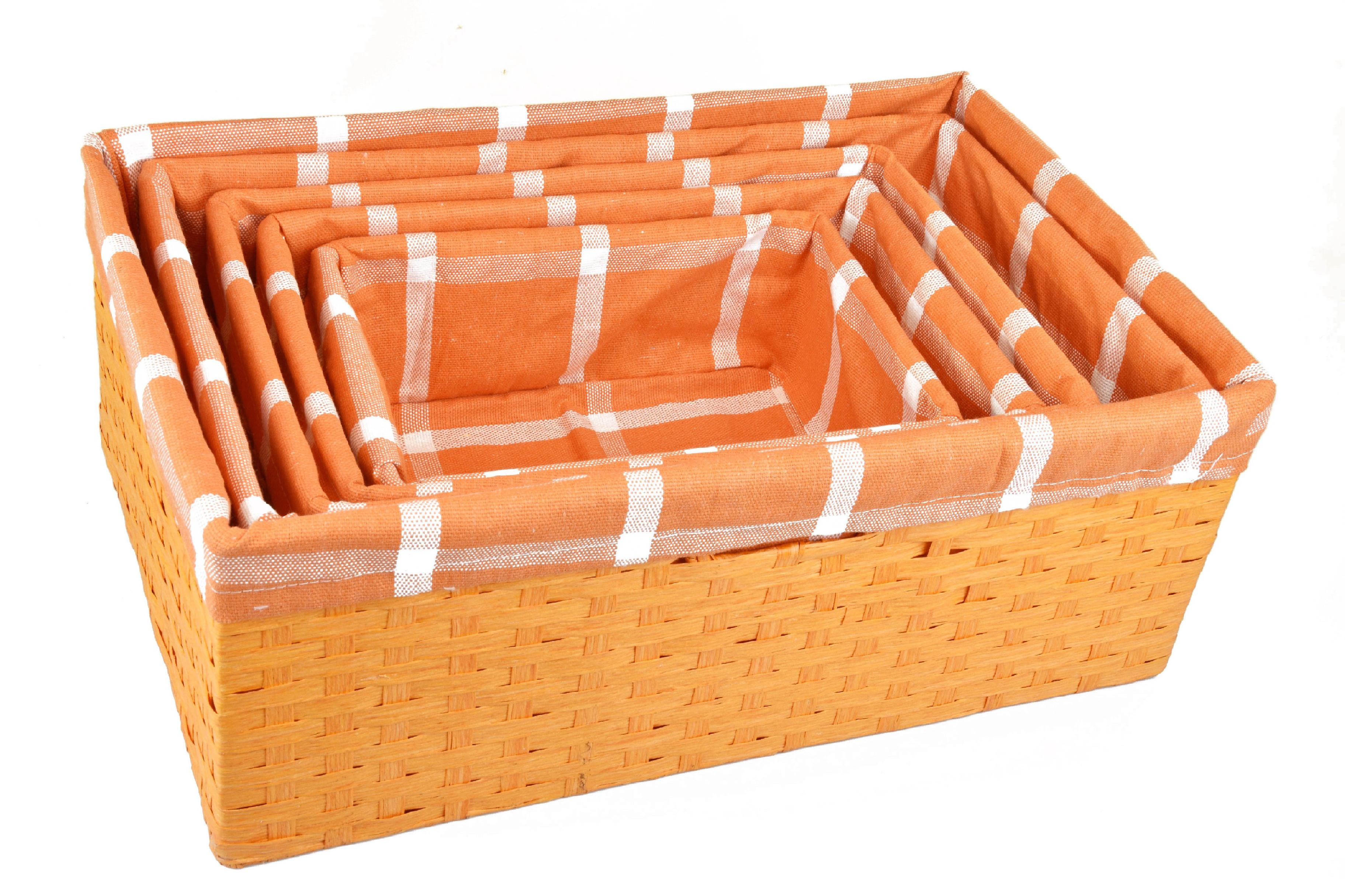 Úložný box oranžový rozměry boxu (cm): 40x27, v. 15