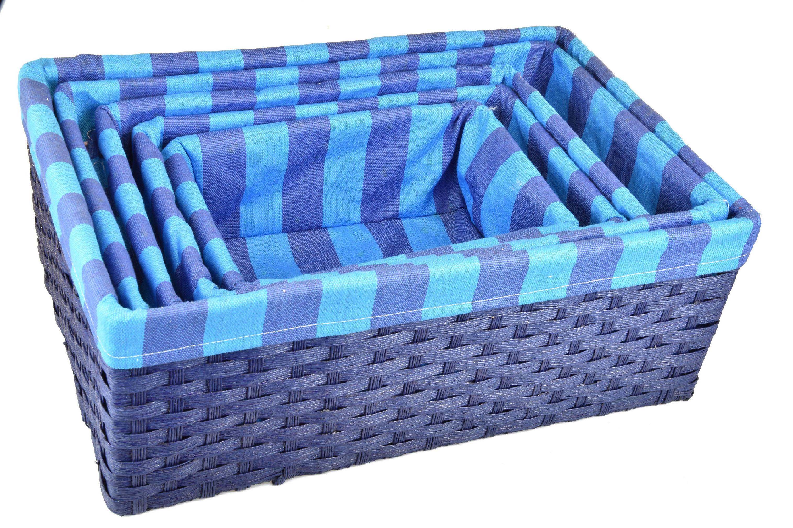 Úložný box modrý rozměry boxu (cm): 40x27, v. 15