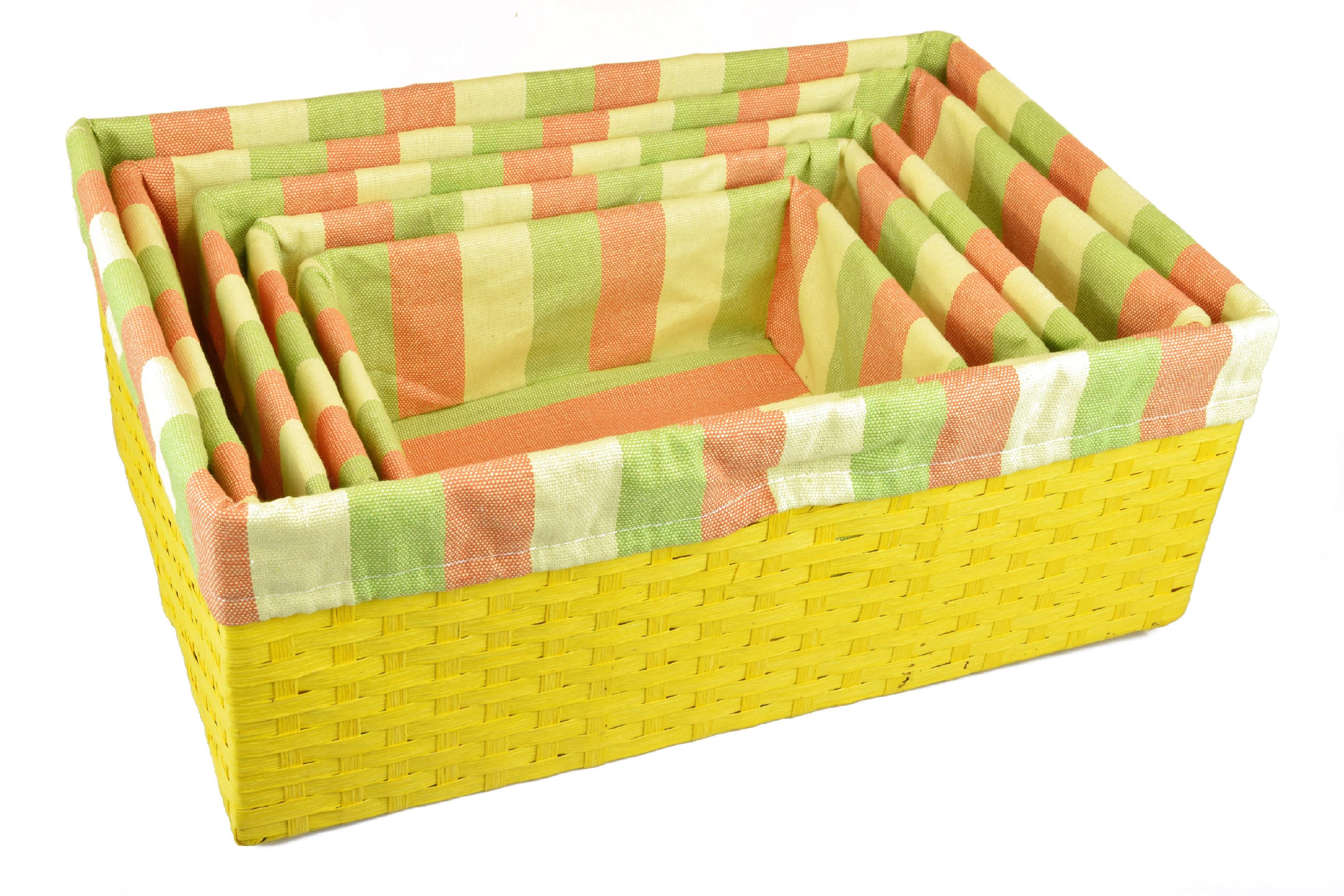 Úložný box žlutý rozměry boxu (cm): 40x27, v. 15