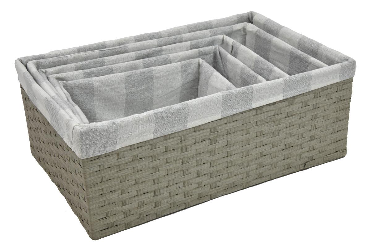 Úložný box šedý rozměry boxu (cm): 40x27, v. 15