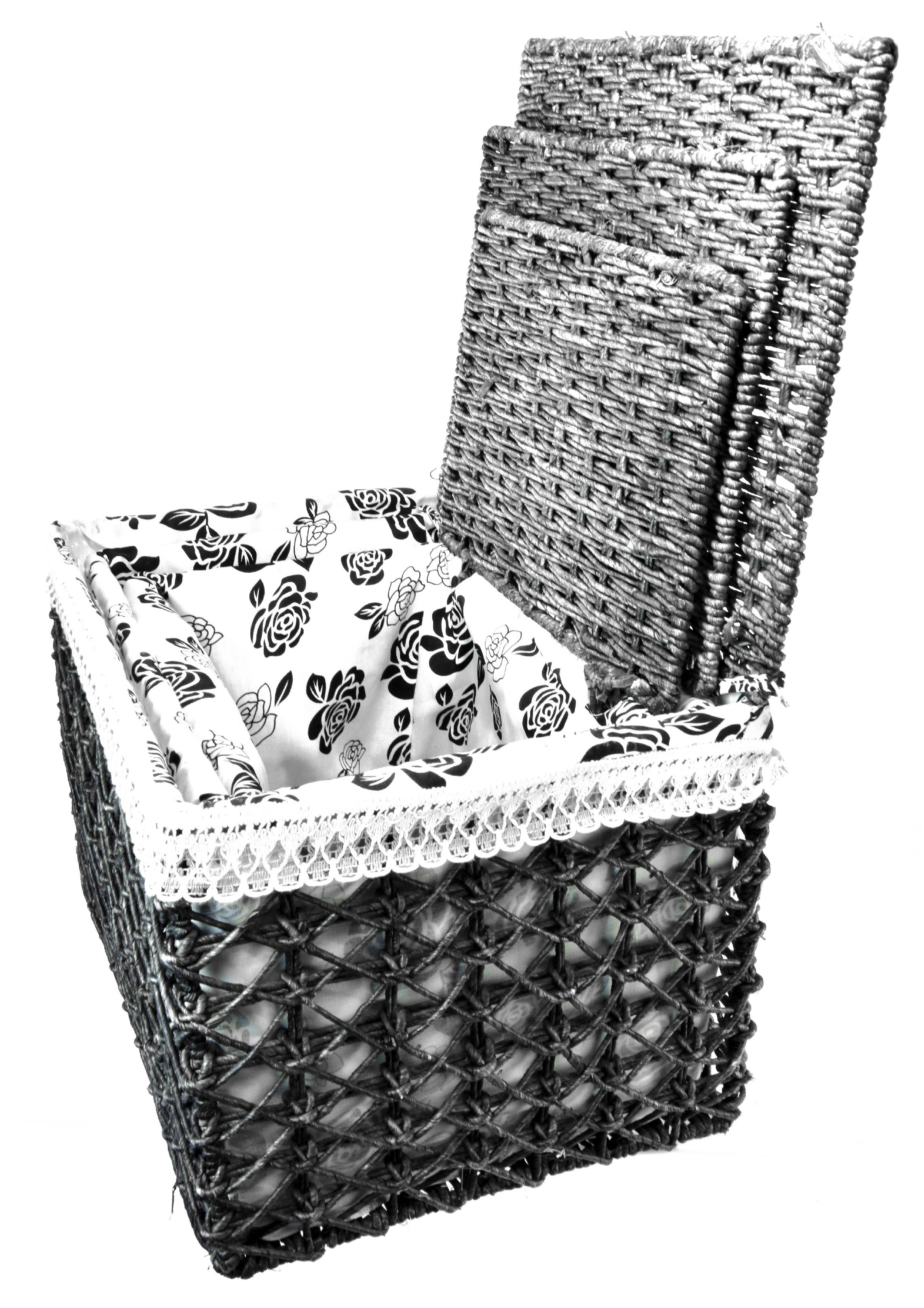 Úložný box s víkem černý rozměry boxu (cm): 36x50x38